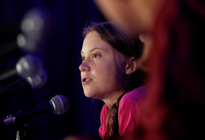 Greta Thunberg à New York, le 23 septembre.