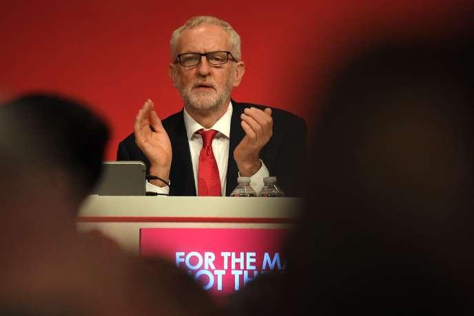 Jeremy Corbyn, le leader du Labour Party, à Brighton, le 22 septembre.