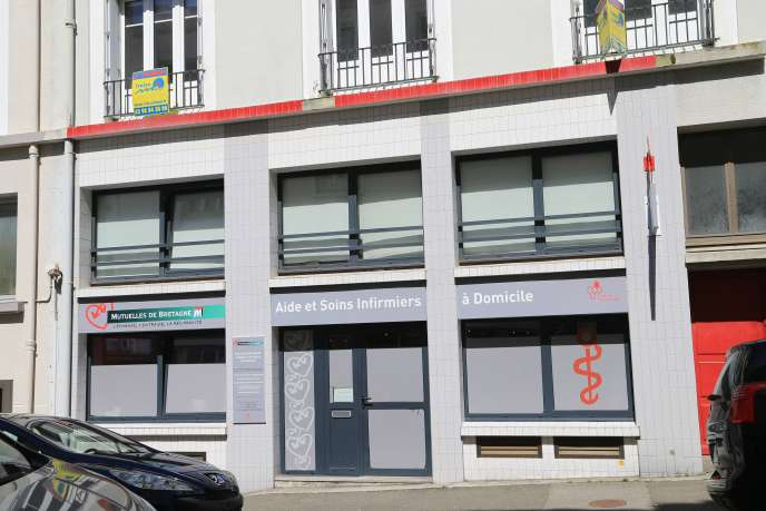 Les locaux commerciaux loués par les Mutuelles de Bretagne à la Société civile immobilière (SCI) Saca, rue George-Sand à Brest, en mai 2017.