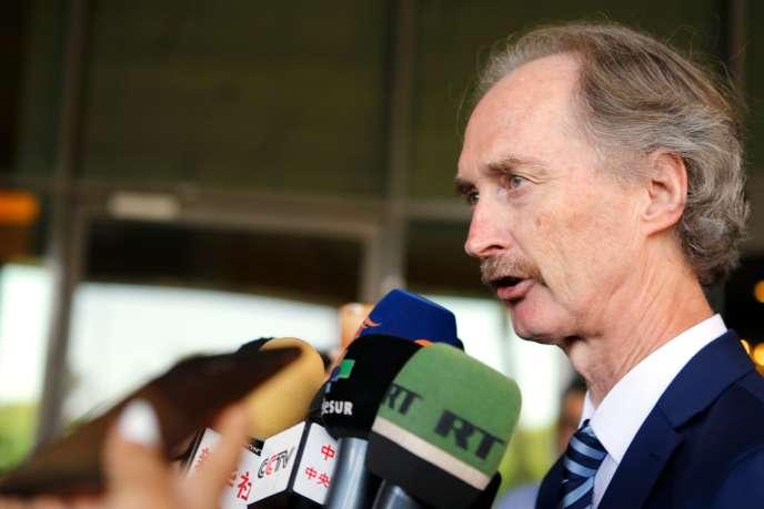 Geir Pedersen,envoyé spécial de l'ONU sur la Syrie, le 23 septembre à Damas.