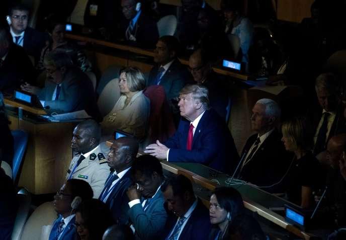 Le président américain n'a assisté que quelques minutes, lundi, à la session de l'Assemblée générale des Nations unies consacrée au sujet.