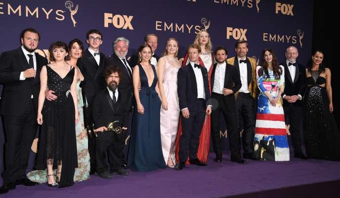 Le casting de « Games of Thrones» lors de la 71e cérémonie des Emmy Awards, à Los Angeles, le 22 septembre.