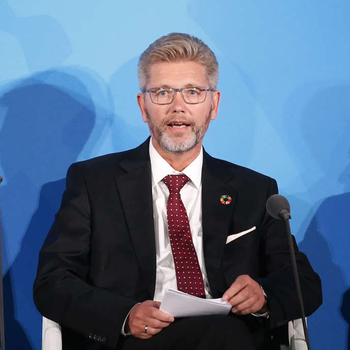 Le maire de Copenhague, Frank Jensen, lors du sommet sur l'action climatique de l'ONU, à New York, le 23 septembre.