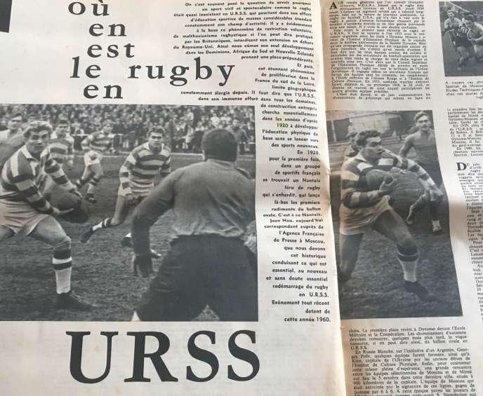Article de Jean Nau publié en 1960 dans le mensuel« Miroir du rugby».