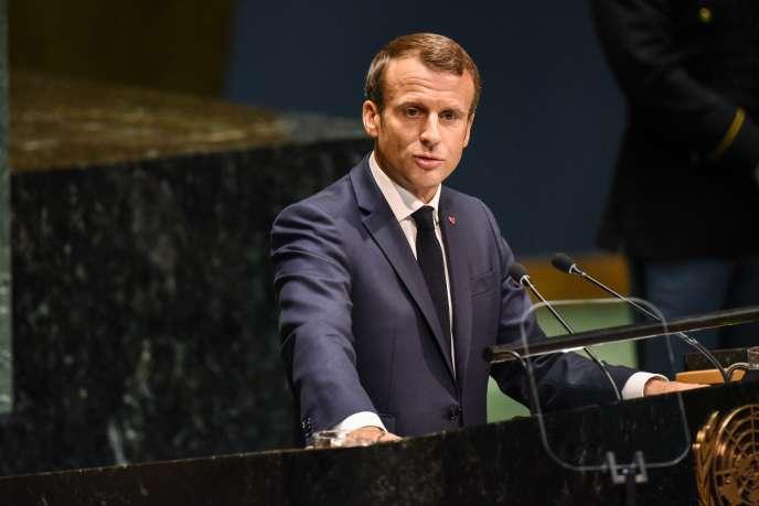 Emmanuel Macron lors de la 74° Assemblée générale de l'ONU, à New York, le 24 septembre.