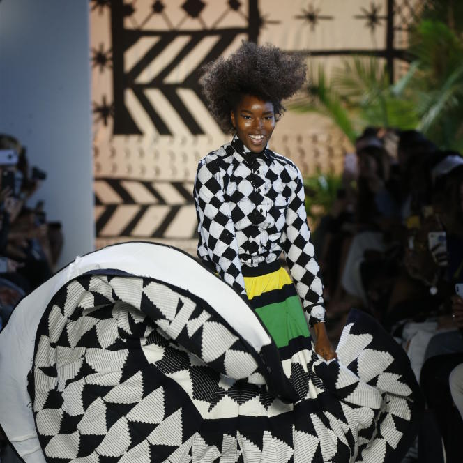 Présentation de la collection «Made in Ghana», de Studio 189, lors de la New York Fashion Week.