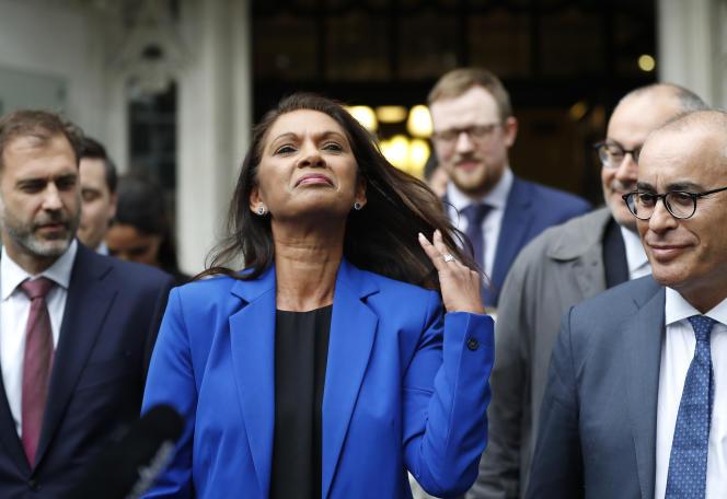 Gina Miller, le 24 septembre devant la Cour suprême, à Londres.