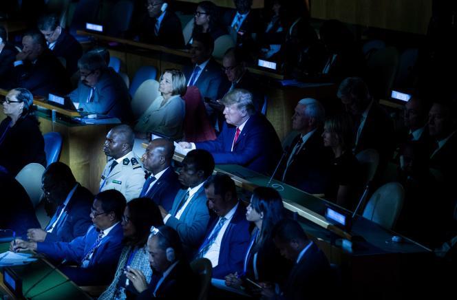 Lors du sommet exceptionnel de l'ONUsur le climat, à New York, le 23 septembre.