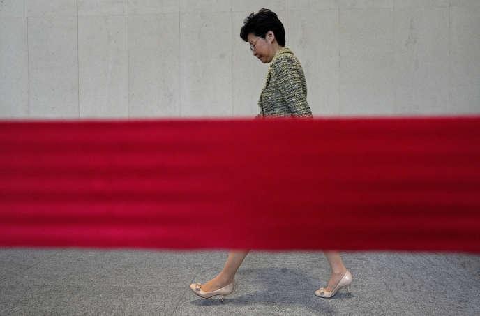 Carrie Lam à Hongkong, le 24 septembre.
