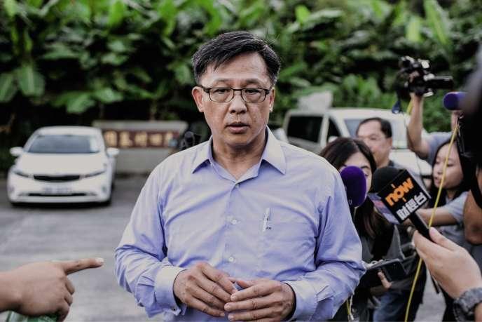Le député hongkongais pro-gouvernement Junius Ho Kwan-yiu, le 23juillet 2019, Hongkong.
