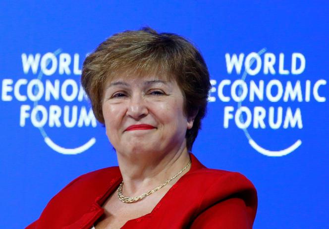 Kristalina Georgieva, nouvelle patronne du FMI, à Davos,le 25 janvier.