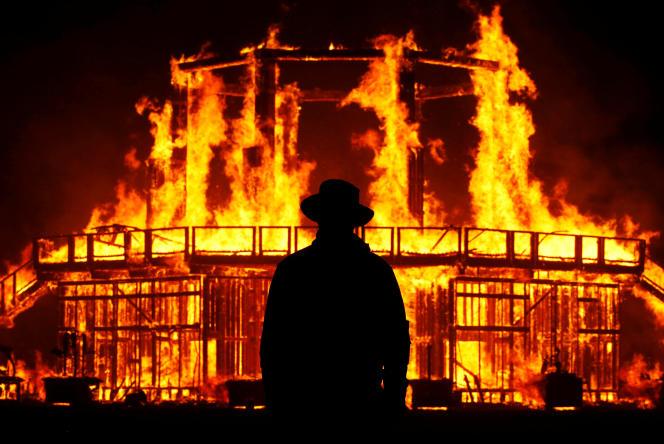 Au festival Burning Man (Nevada), en 2017.
