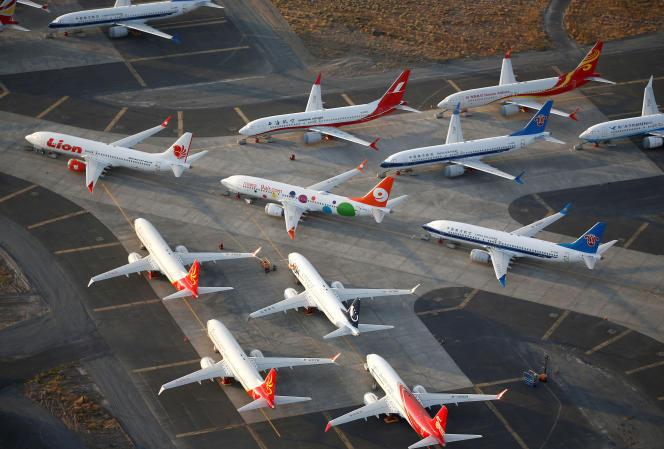 Des Boeing 737 MAX à l'arrêt le 16 septembre à Washington.