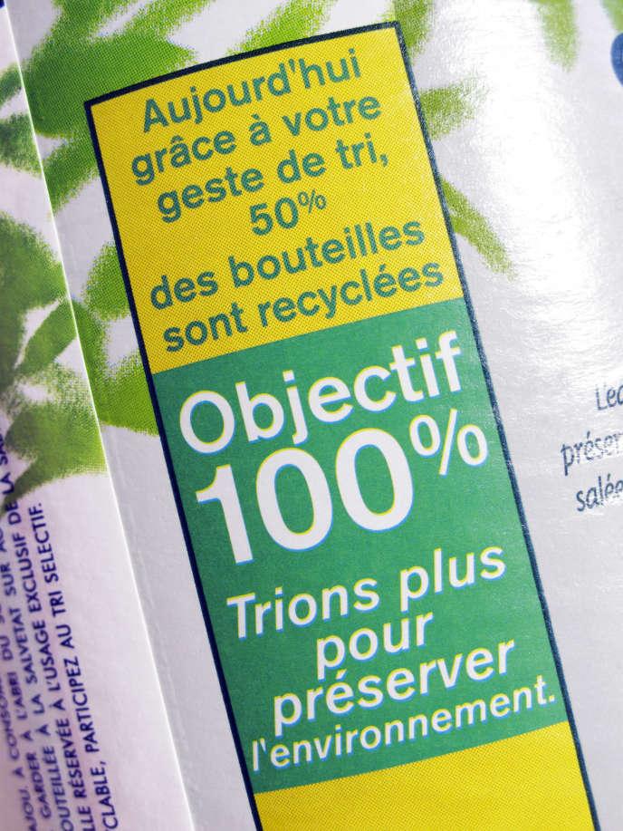 «Seuls 58 % des emballages de boissons sont actuellement collectés en France, et ce taux dégringole dans les grandes villes comme Paris où moins de 10 % des bouteilles en plastique sont collectées,»