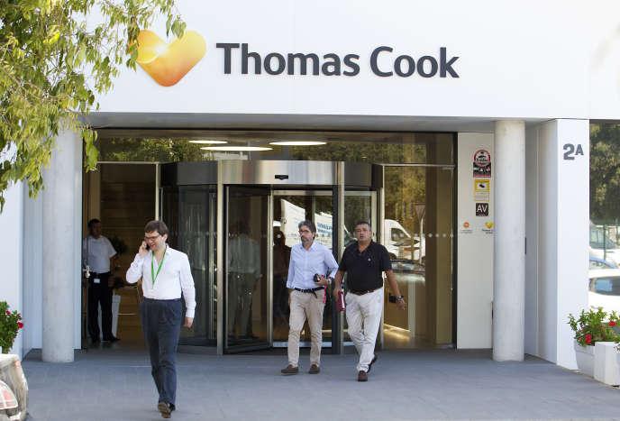 Le siège de Thomas Cook à Palma de Majorque (Baléares, Espagne), le 24 septembre.