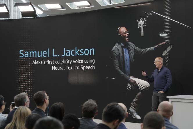 L'acteur américain Samuel L. Jackson prête sa voix à Alexa.