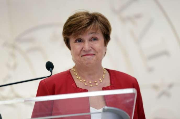 Kristalina Georgieva au FMI, mercredi 25 septembre.