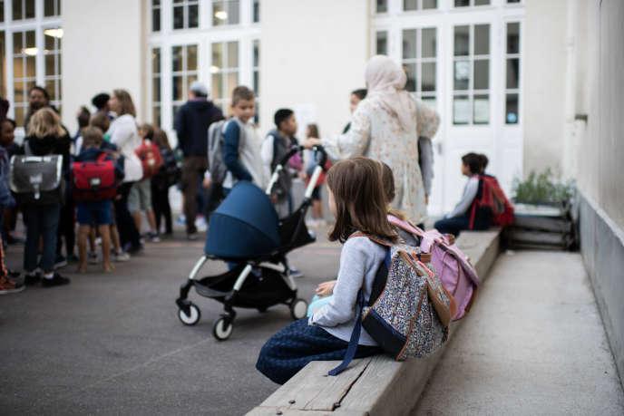 A l'école primaire Chaptal, à Paris, le 2 septembre.