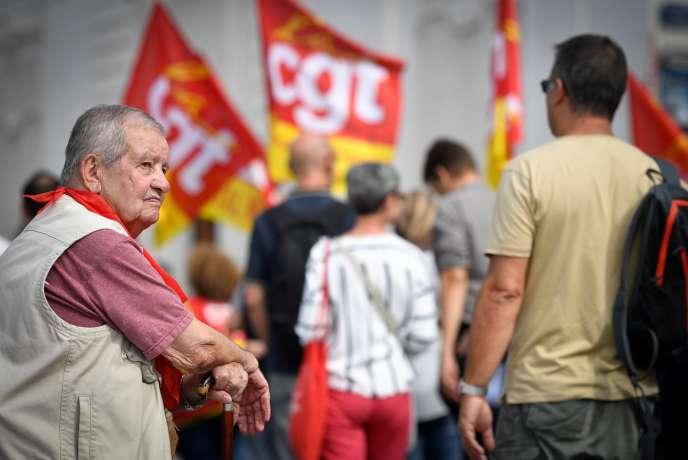 Manifestation contre la future réforme des retraites à Marseille, le 24 septembre.