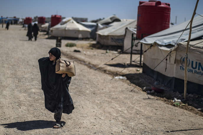 Une enfant déplacée dans le camp d'Al-Hol, en Syrie, le 23 juillet 2019.