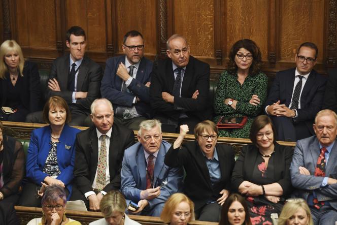 Des députés britanniques à la Chambre des communes, à Londres, le 25 septembre.