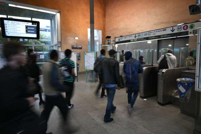 Station Denfert-Rochereau à Paris, le 13 septembre.