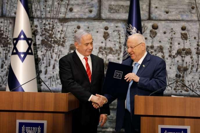 Le président israélien et le premier ministre sortant à Jérusalem, le 25 septembre.