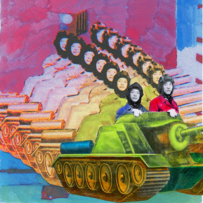 Travail de coloration de l'artiste Lei Lei, extrait du fonds d'archives Beijing (ou Pékin).