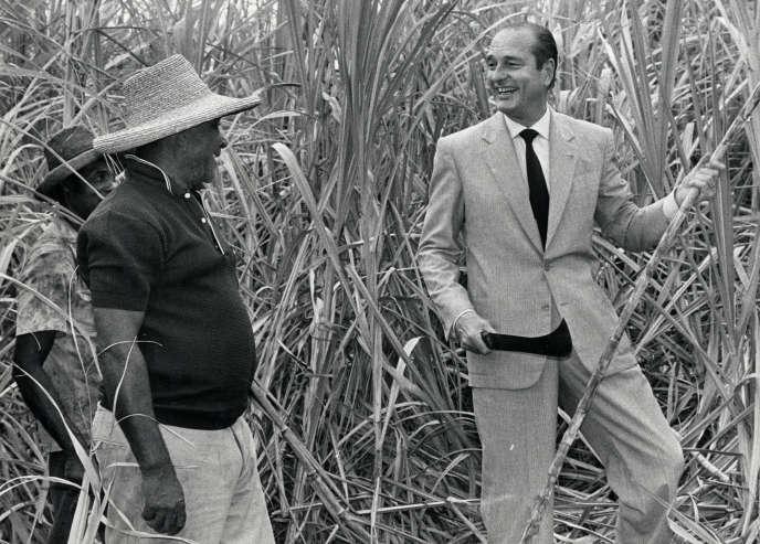 Jacques Chirac en Martinique, le 31 mars 1988.