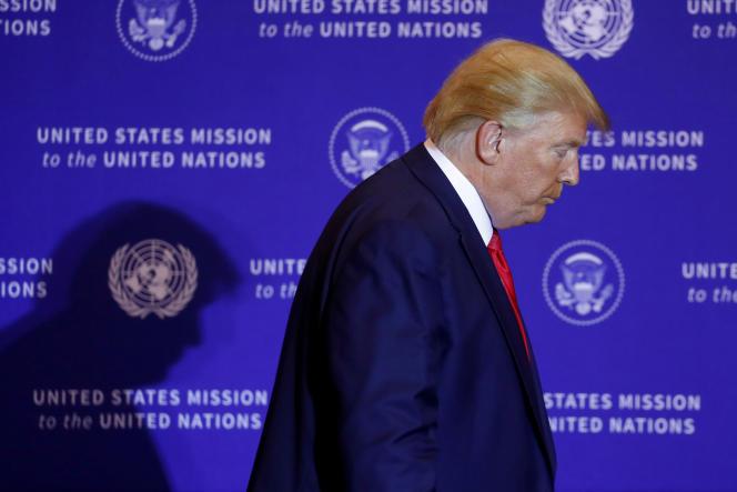 Le président américain, Donald Trump, le 25 septembre, à New York.
