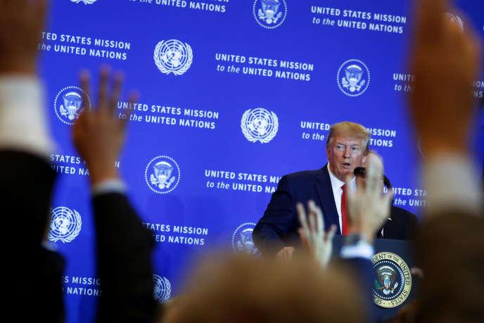 Le président américain Donald Trump lors de sa conférence de presse à l'ONU (New York), le 25 septembre.