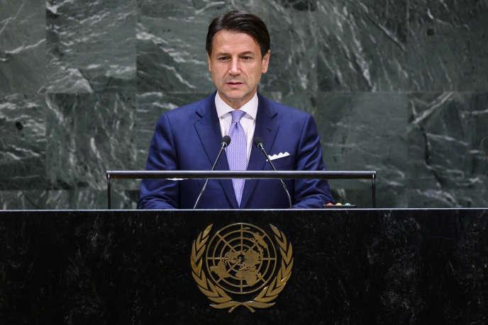 Le président du Conseil italien, Giuseppe Conte, le 24 septembre 2019, au Sommet de l'ONU à New-York.