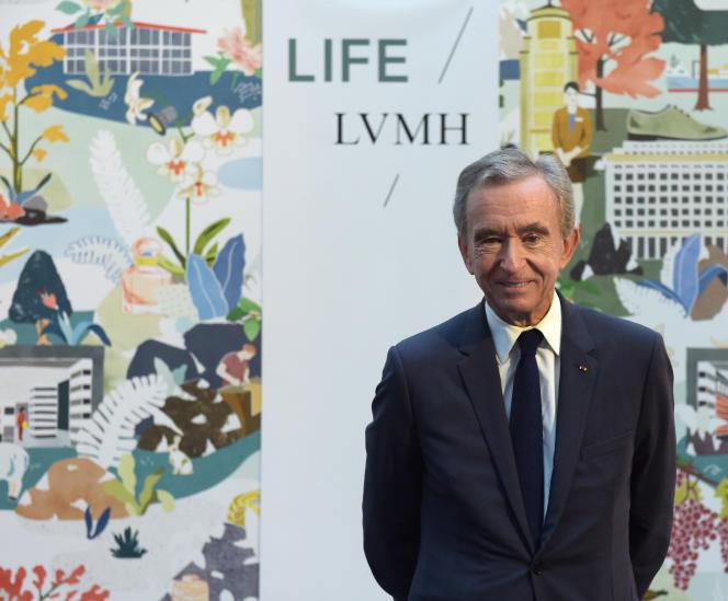 Bernard Arnault, PDG du groupe LVMH, le 25 septembre, au siège de LVMH à Paris.
