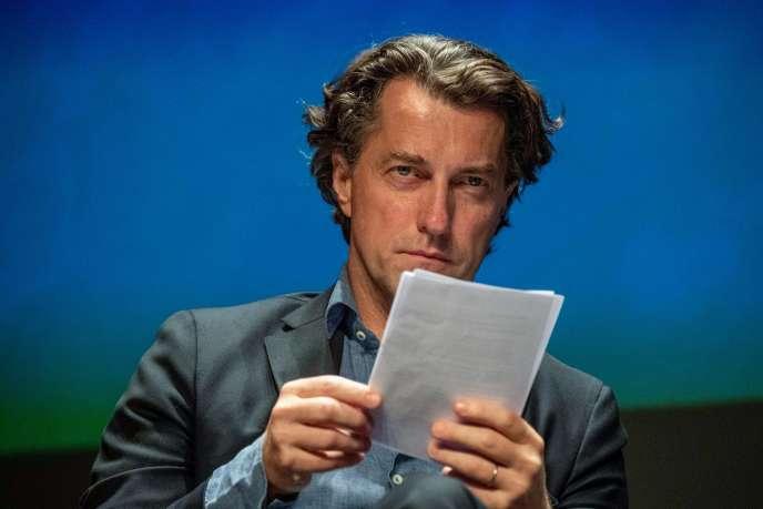 Dominique Boutonnat,le nouveau président du Centre national du cinéma et de l'image animée (CNC), lors du Festival de la fiction, à LaRochelle, le 13septembre.