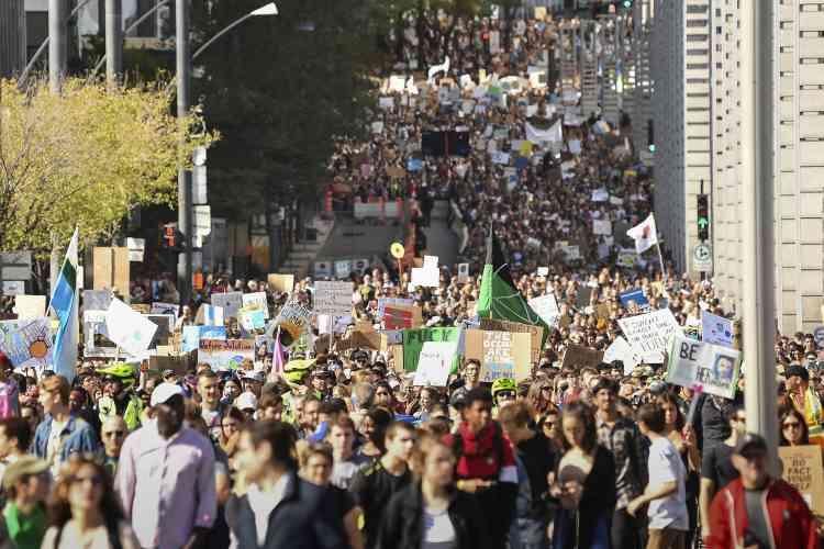 La manifestation a rassemblé près d'un demi-million de personnes, du jamais vu au Québec.