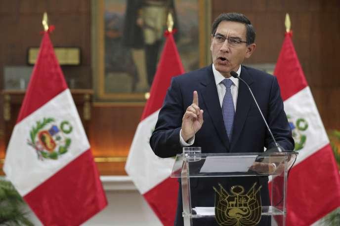 Le président péruvien, Martin Vizcarra, à Lima le 27 septembre.