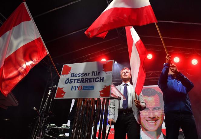 Norbert Hofer, chef de file du FPÖ, le 27 septembre à Vienne.