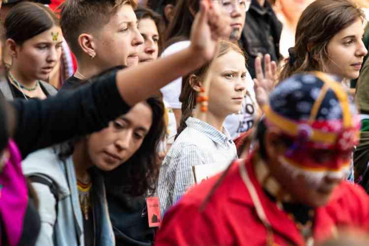 «Nous sommes en train de changer le monde», a lancé vendredi 27septembre la jeune Suédoise Greta Thunberg.