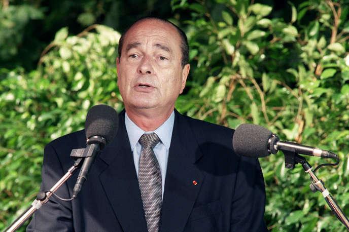 Jacques Chirac, lors d'une commémoration de la rafle du Vel'd'Hiv le 16 juillet 1995.