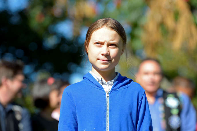 La militante suédoise Greta Thunberg rejoint la marche pour le climat à Montréal (Canada), le 27 septembre