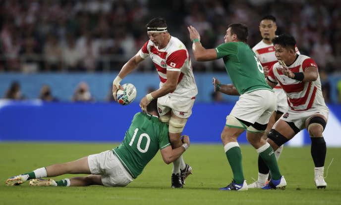 Le seconde ligne Luke Thompson a porté les« Brave Blossoms» face aux Irlandais.