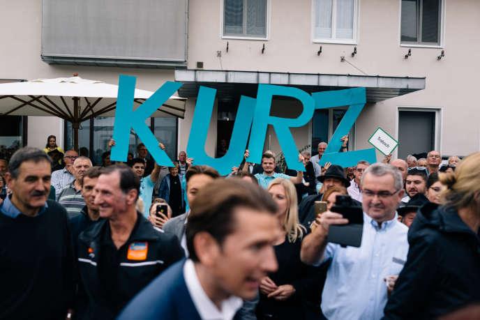 Le chancelier Sebastian Kurz, àMautern, en Autriche, le 27 septembre.