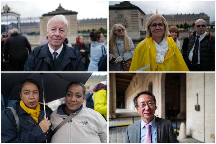 Philippe, Agnès, Danielle, Catherine et Hao sont venus aux Invalides, dimanche, pour rendre un dernier hommage à Jacques Chirac, mort jeudi 26 septembre.