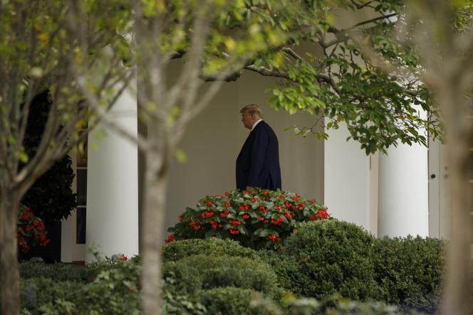 Donald Trump, à la Maison-Blanche, à Washington, après avoir assisté à l'Assemblée générale des Nations unies, le 26 septembre.