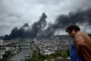 L'incendie de Lubrizol à Rouen le 26 septembre.