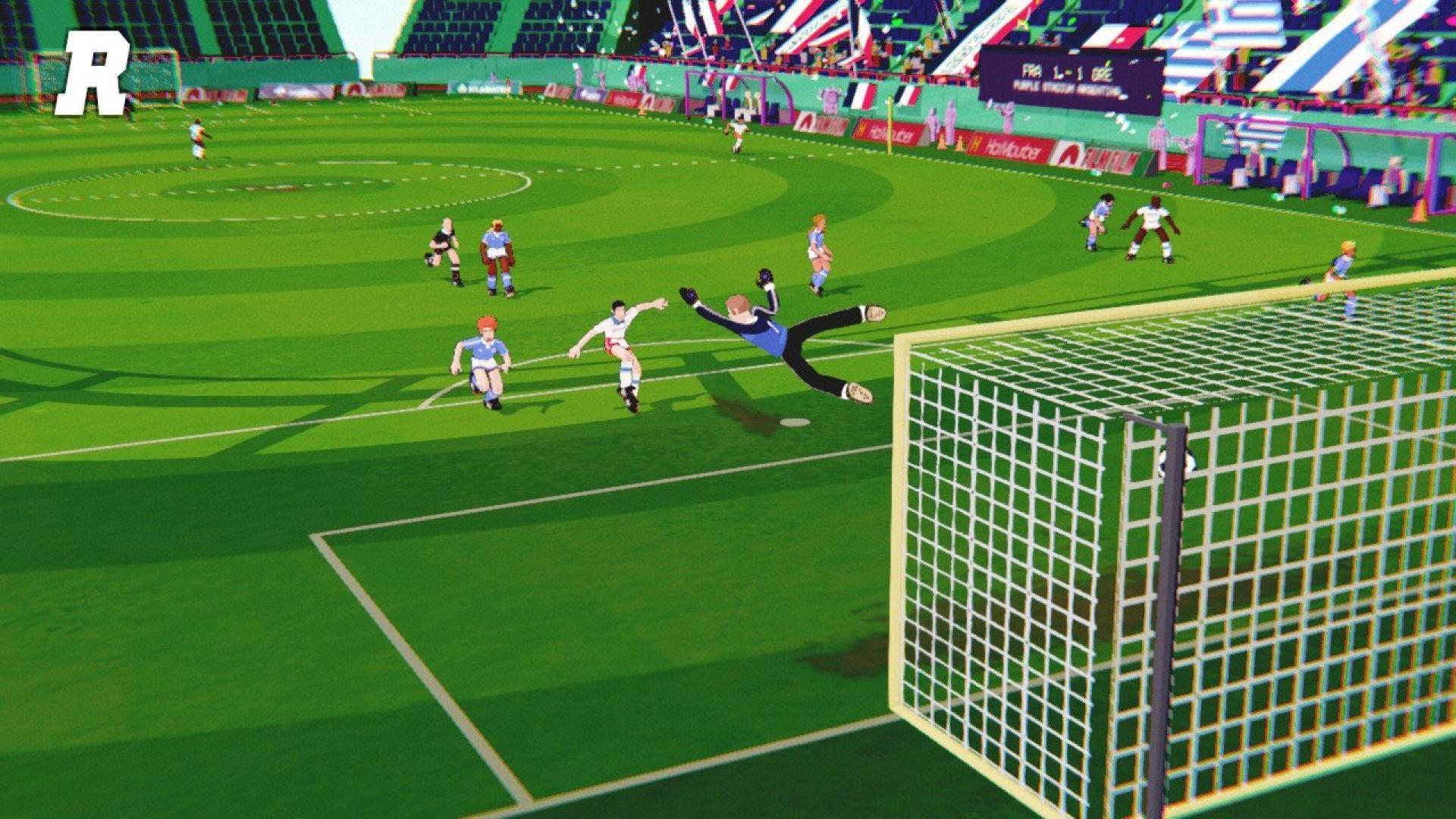 « Golazo!», rencontre entre« Olive & Tom» et« International Superstar Soccer», écarte aisément un vrai-faux jeu de balle au prisonnier.