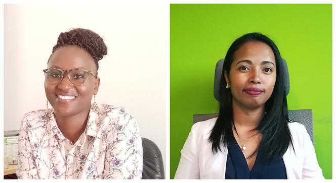 Catherine Penda Mbaye (à gauche) et Tantely Andriamampianina, lauréates du concours«Ma thèse en 180secondes».