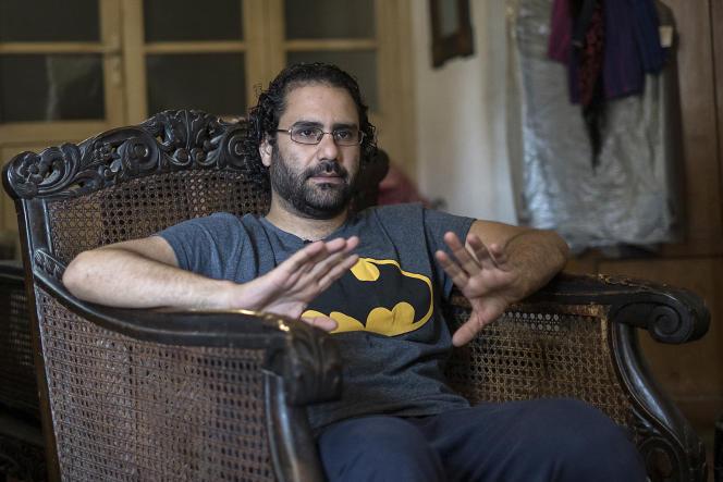 Le militant des droits de l'homme Alaa Abdel Fattah, le 17 mai 2019 à son domicile au Caire.