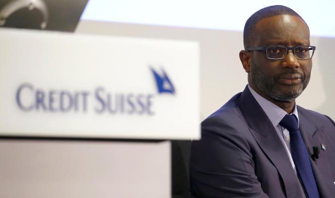 Le patron de Credit Suisse, Tidjane Thiam, à Zurich, le 14 février.