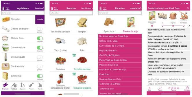 L'appli Frigo Magic propose des recettes n'excédant pas les 30 mn.
